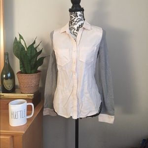 Nordstrom BP. Two tone casual button down